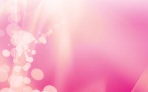 Wallpaper glare, pink, bokeh