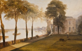 Picture picture, painting, painting, Early Summer Morning, Mortlake Terrace, Joseph Mallord William Turner