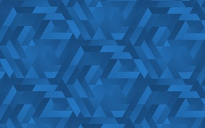 Wallpaper gradients, blue, triangles, texture
