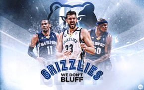 Picture Sport, Basketball, NBA, Grizzlies, Memphis, Mike Conley, Zach Randolph, Marc Gasol, Grizzlies, Memphis