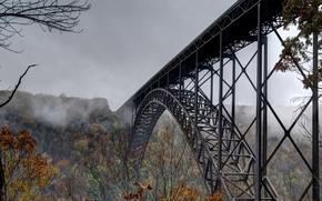 Picture Bridge, Autumn, Fog, Energo5, Overcast