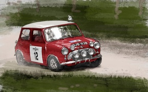 Wallpaper figure, Mini Cooper, Car, Mini Cooper