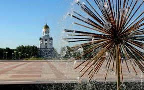 Picture the city, area, fountain, Russia, chapel, Kamensk-Uralsky