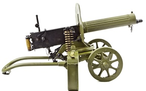 Picture weapons, easel, Maxim, machine gun