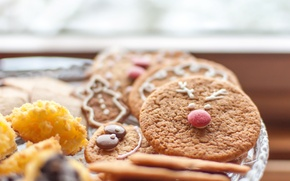 Picture background, widescreen, Wallpaper, food, cookies, wallpaper, widescreen, background, sweet, full screen, HD wallpapers, Christmas cookies, …
