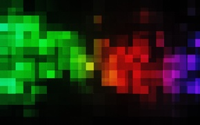 Picture abstraction, patterns, paint, colors, squares, pixels, patterns, pixels, abstraction, 2560x1600, squares
