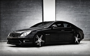 Wallpaper CLS-Class, C219, Mercedes-Benz, black, Black, Mercedes, AMG