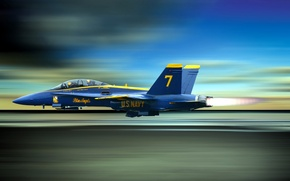 Picture aviation, the plane, blue angels