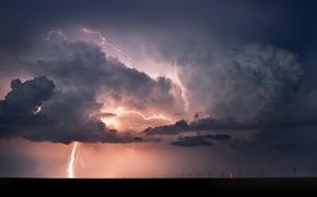 Wallpaper lightning, landscapes, rain