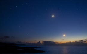 Picture coast, The moon, Venus, Donegal