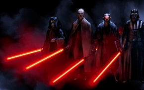 Picture star wars, darth vader, sith, darth maul, count dooku, darth sidious