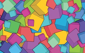Wallpaper cube, bright, cube, abstraction, bright, background, cubes