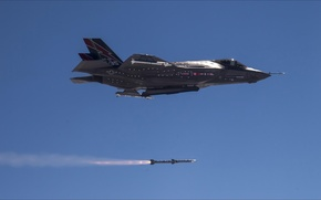 Picture fire, sky, air, weapons, F-35