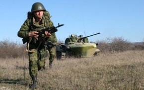Picture soldiers, storm, assault, BMD, division, 7th, landing, photo Wallpaper, exercises.