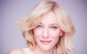 Picture woman, blue, beauty, celebration, blonde, eyed, actress, Cate Blanchett, Cate Blanchett