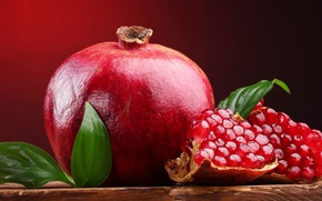 Picture leaves, red, widescreen, Wallpaper, food, fruit, wallpaper, leaf, widescreen, background, garnet, full screen, HD wallpapers, …