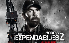 Wallpaper The Expendables 2, Booker, Chuck Norris, Chuck Norris, The expendables 2