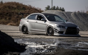 Picture turbo, mitsubishi, japan, jdm, tuning, lancer, evolution, evo, low, stance