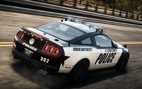 Picture Mustang, Ford, Shelby, Need for Speed, nfs, police, 2013, Rivals, NFSR, NSF