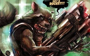 Picture Marvel, rocket, Guardians of the Galaxy, raccoon, raccoon