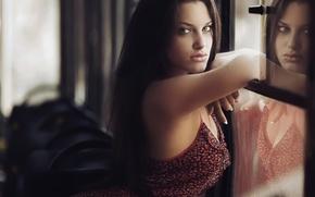Picture look, reflection, neckline, Karen Abramyan