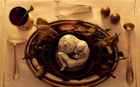 Picture sleep, art, dish, serving, sick fantasy