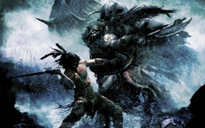 Picture battle, warriors, the Vikings, Pathfinder