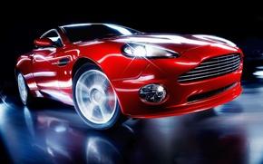 Wallpaper Red, Speed, Turn
