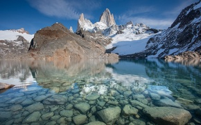 Picture nature, Argentina, Lake of The Three