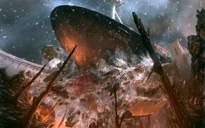 Picture ship, Crash, 151, dam