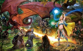 Picture fantasy, dragon, the game, armor, heroes, mgia, EverQuest