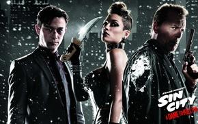 Wallpaper Joseph Gordon-Levitt, Rosario Dawson, Joseph Gordon-Levitt, Sin City: A Dame to Kill For, Rosario Dawson, ...