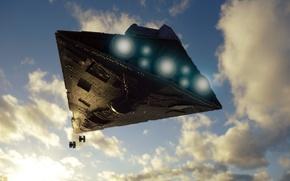 Picture the sky, toy, Star Wars, Destroyer