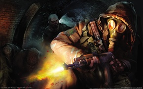 Picture weapons, machine, Stalker, Stalker, clear sky, mobs, AK47
