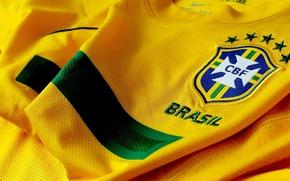 Picture logo, football, Brasil, t-shirt