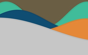 Picture line, blue, abstraction, grey, green