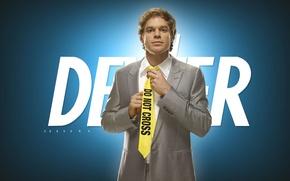 Wallpaper tie, Michael Carlisle Hall, Michael Carlisle Hall, Dexter, costume, Dexter
