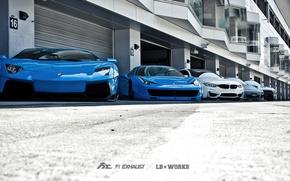 Picture machine, tuning, Lamborghini, Porsche, BMW, Ferrari, Nissan, garages, Liberty Walk