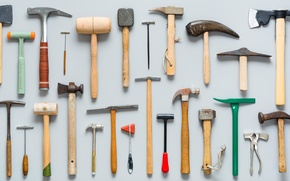 Picture hammer, tool, set, stand