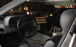 Picture Dashboard, Delorean, Back to the future, Time machine, Time machine, The workplace of temponauta