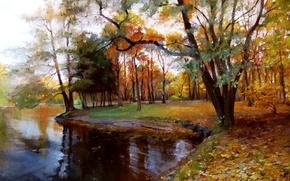 "Picture oil, picture, canvas, ""Autumn"""