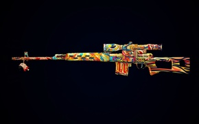 Picture style, weapons, figure, military, sniper rifle