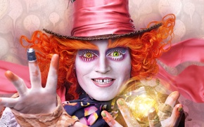 Picture 2016, Alice Through the Looking Glass, Johnny Depp, Johnny Depp, Alice in Wonderland, Mad Hatter