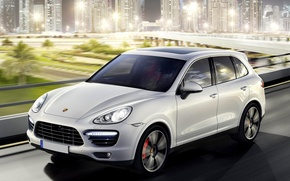 Picture Lights, Night, Speed, Skyscrapers, Light, Beautiful, Porsche Cayenne, Car, Car, Speed, Night, Wallpapers, New, Wallpaper, …