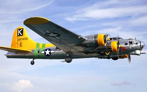 Picture the sky, flight, the plane, bomber, Boeing, B-17, flying fortress, Flying Fortress
