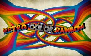 Picture color, style, retro, strip, the inscription, Wallpaper