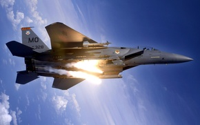 Wallpaper fighter, f15 strike eagle, vertical limit, height, stratosphere