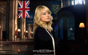 Picture Emma Stone, Emma Stone, Gwen Stacy, The Amazing Spider-Man 2, New Spiderman: High voltage