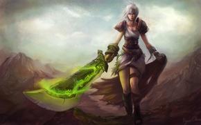 Picture sword, League of Legends, riven