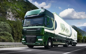 Picture Truck, Wallpaper, Wallpapers, Truck, The trailer, DAF, XF105, Ixef, DAF, 105, Train